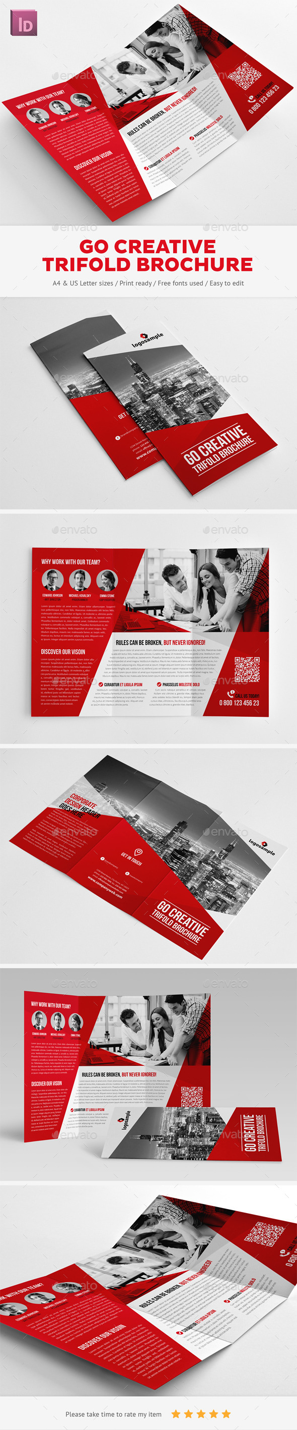 GraphicRiver Go Creative Trifold Brochure 11477894