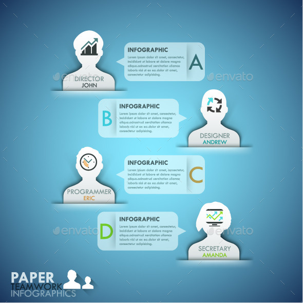 GraphicRiver Business Teamwork Infographics Template 11477968