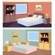 Cartoon Bedroom Apartment Livingroom Interior - GraphicRiver Item for Sale