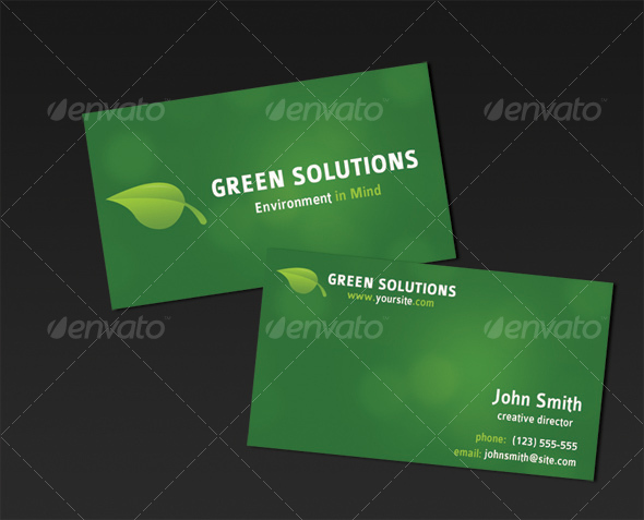 GraphicRiver Green Business Card 33192