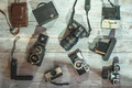 Set of vintage and new cameras - PhotoDune Item for Sale