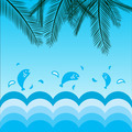 coconut leafs and sea background - PhotoDune Item for Sale