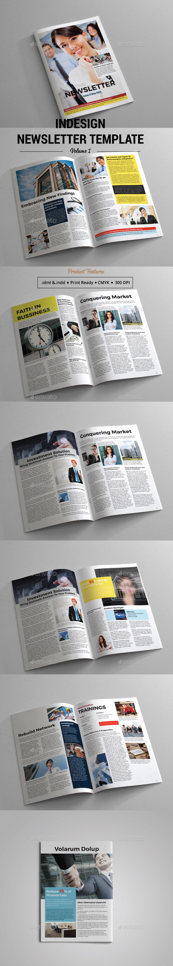 GraphicRiver A4 Newsletter Template 11478065