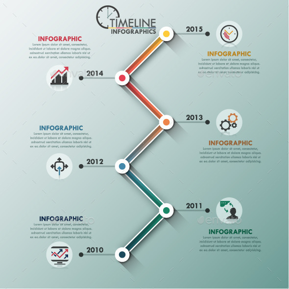 GraphicRiver Modern Infographic Minimal Timeline 11478243