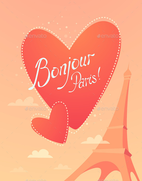 GraphicRiver Love in Paris Bonjour Paris 11478277