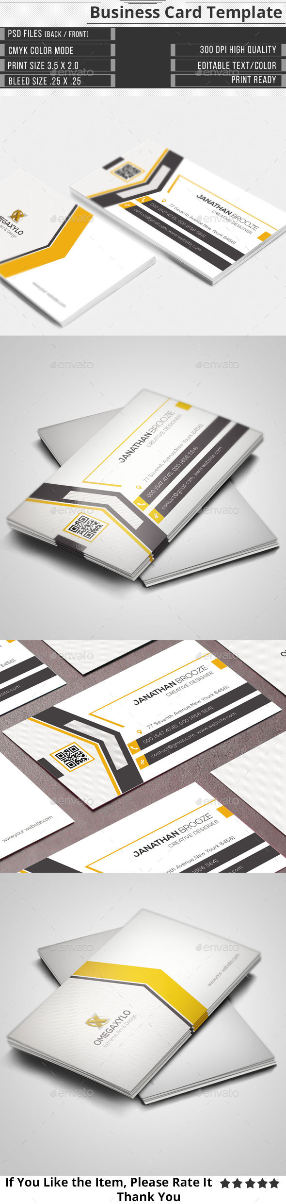 GraphicRiver Corporate Business Card 11478446
