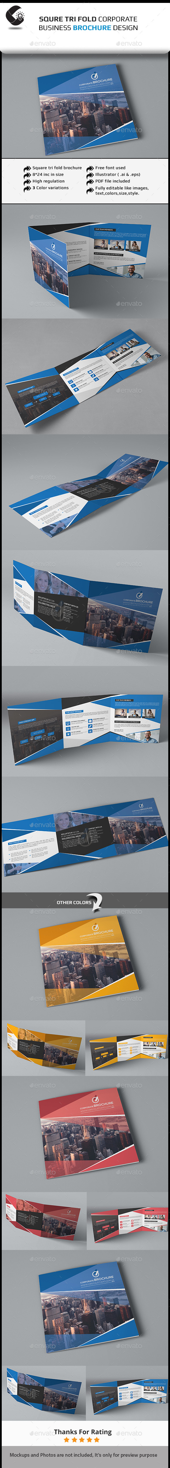 GraphicRiver Square Tri-fold Brochure-Multipurpose 11478664
