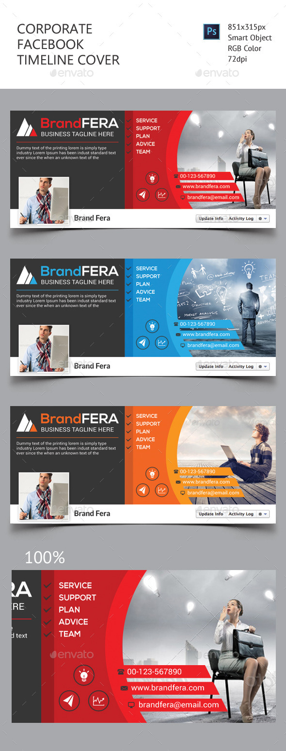 GraphicRiver Corporate Facebook Timeline Cover 11478723