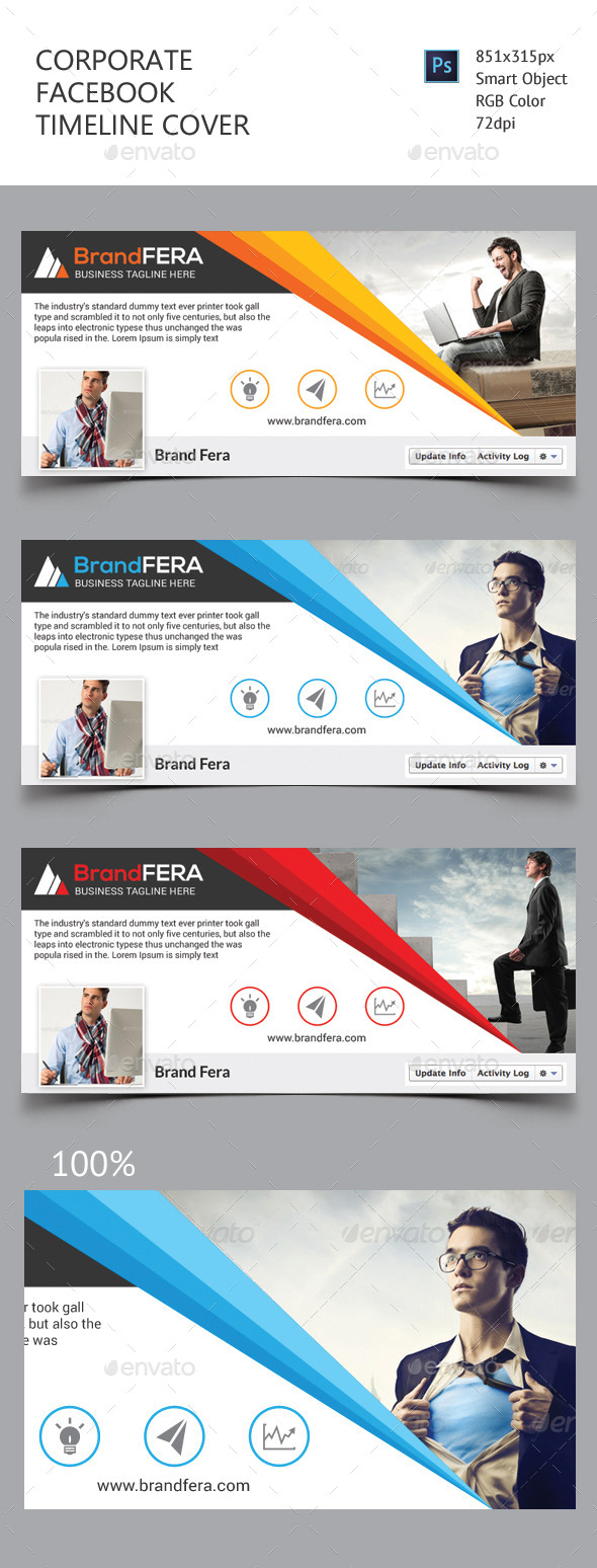 GraphicRiver Corporate Facebook Timeline Cover 11478780