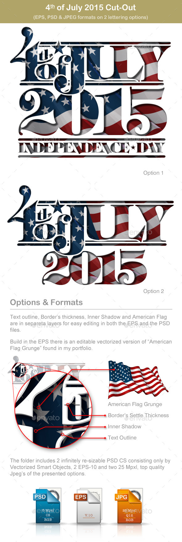 GraphicRiver 4th of July Cut-Out 2015 11478854