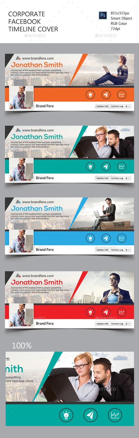 GraphicRiver Corporate Facebook Timeline Cover 11478858