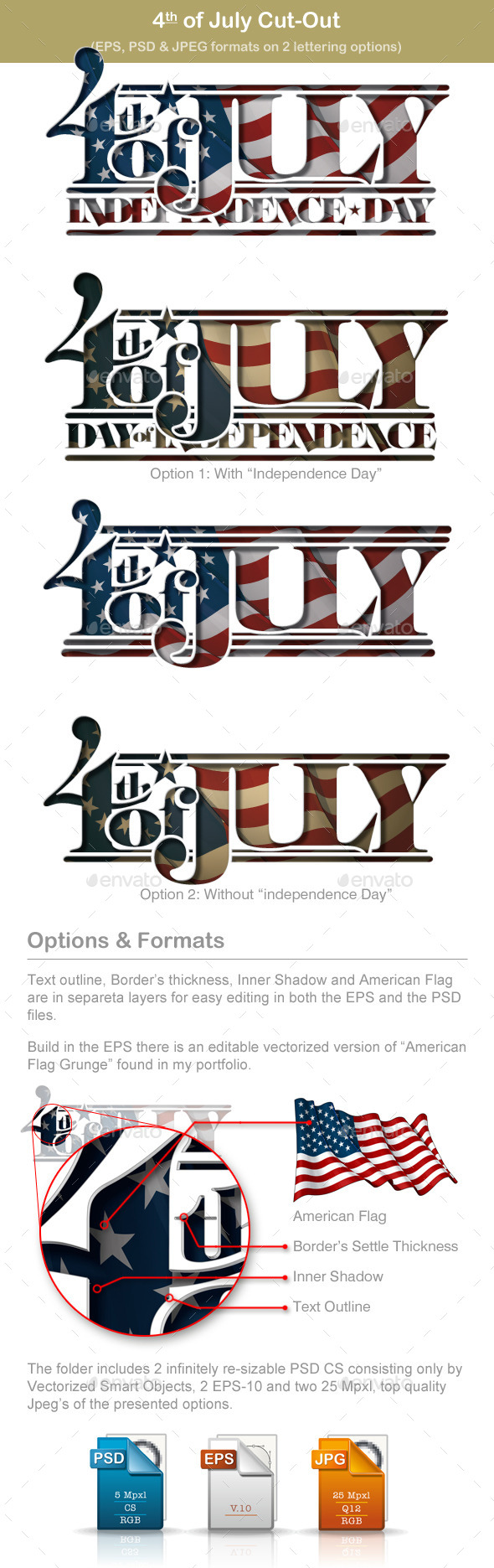 GraphicRiver 4th of July Cut-Out 11478873