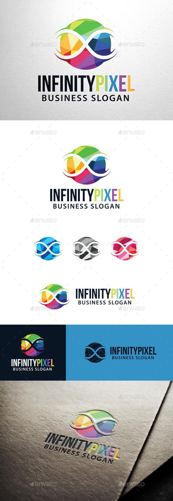 GraphicRiver Infinity Pixel Logo 11478993