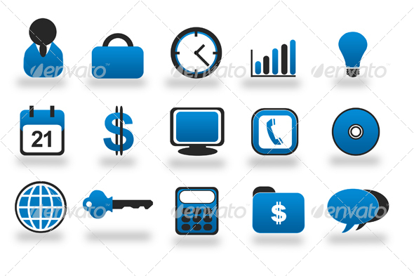 GraphicRiver Web Business & Office Icons Sibary Series 29112