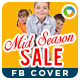 Mid Season Sale Facebook Cover - GraphicRiver Item for Sale