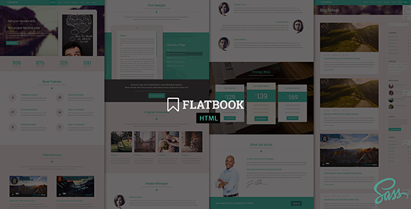 FlatBook - Flat Ebook Selling HTML5 Template - Marketing Corporate