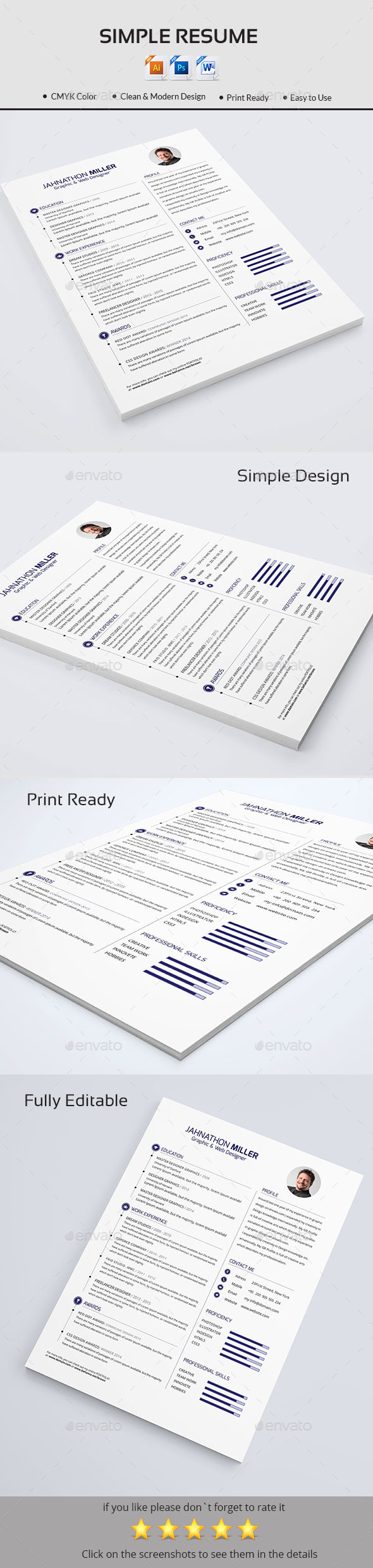 GraphicRiver Simple Resume 11479955