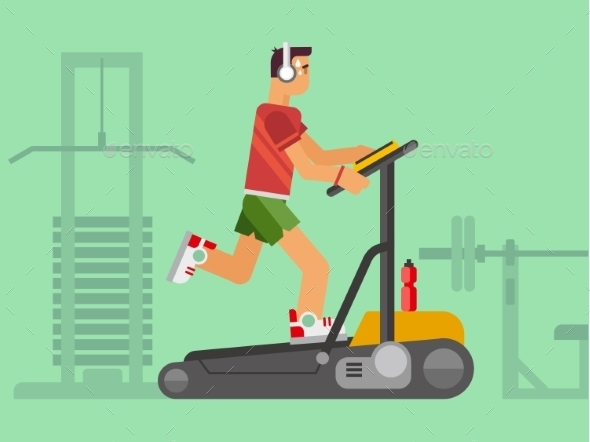 GraphicRiver Athlete Running On a Treadmill 11479980