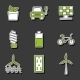 Set Of Hand Drawn Stickers On Renewable Energy - GraphicRiver Item for Sale