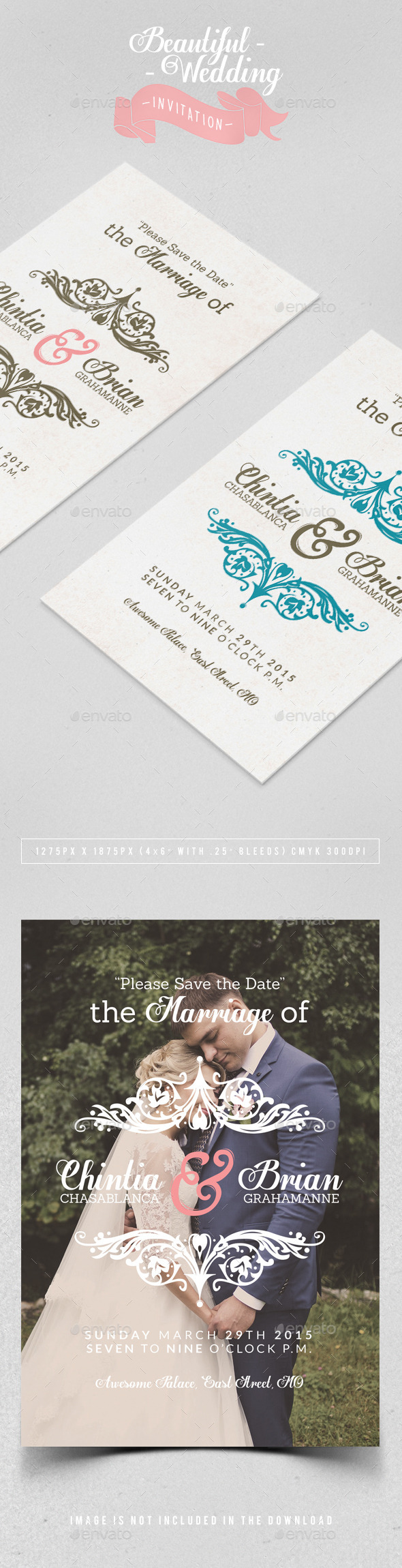 GraphicRiver Wedding Invitation 11480483