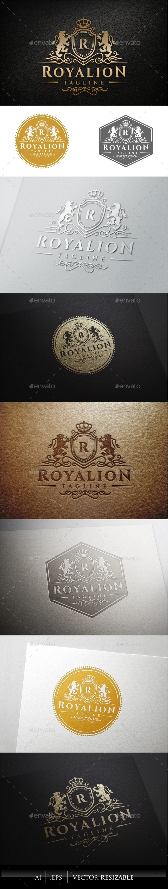GraphicRiver Royal Lion Logo Template 11474876