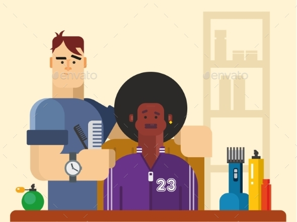 GraphicRiver People In The Barber Shop 11480747