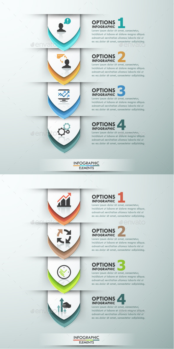 GraphicRiver Modern Infographics Options Template 2 Colors 11480766