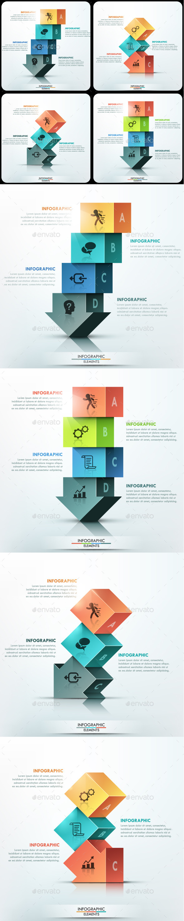 GraphicRiver Modern Infographic Options Template 4 Items 11480872