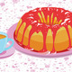 Cake with glaze and a cup of hot drink - PhotoDune Item for Sale