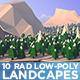 Low Poly - 10 Super Rad Landscapes - GraphicRiver Item for Sale