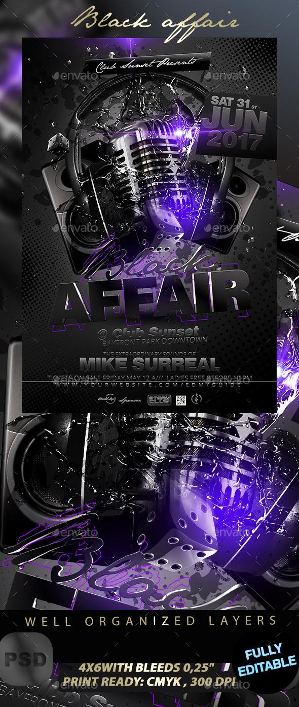 GraphicRiver Black Affair Party Flyer 11480898
