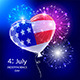 Independence Day Balloon and Firework - GraphicRiver Item for Sale