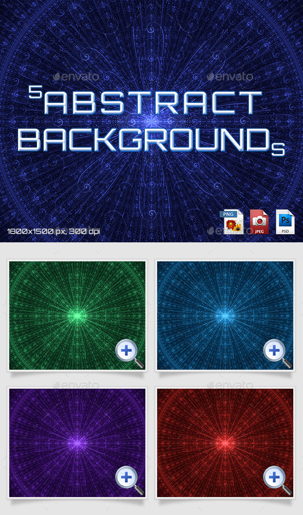 GraphicRiver 5 Abstract Backgrounds 11480925