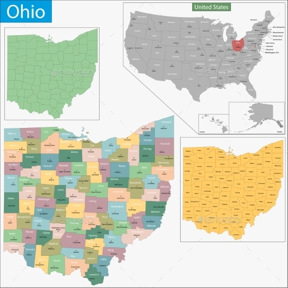 GraphicRiver Ohio Map 11480975