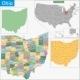Ohio Map - GraphicRiver Item for Sale