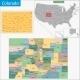 Colorado Map - GraphicRiver Item for Sale