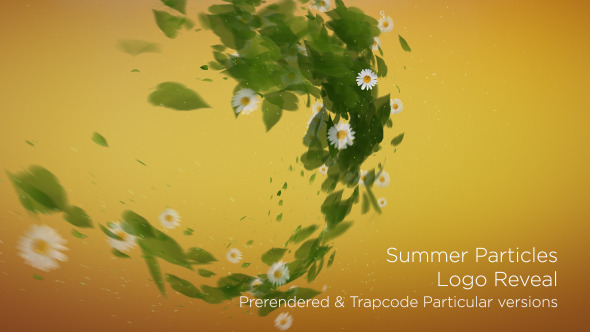 Summer Particles Logo Reveal