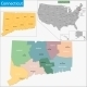 Connecticut Map - GraphicRiver Item for Sale