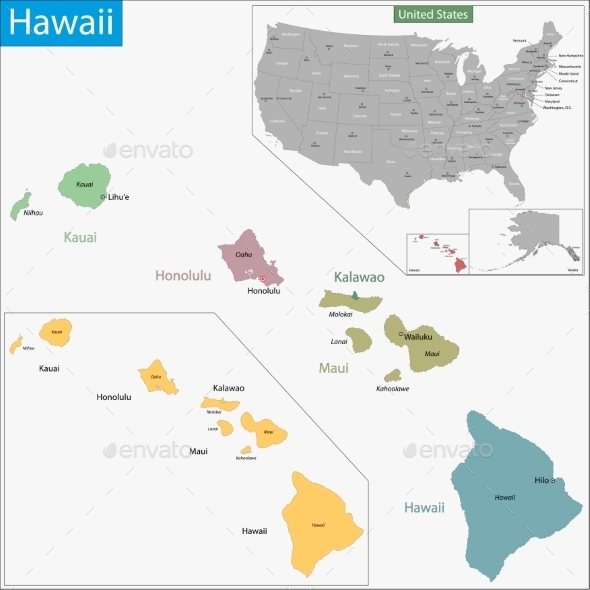 GraphicRiver Hawaii Map 11480985