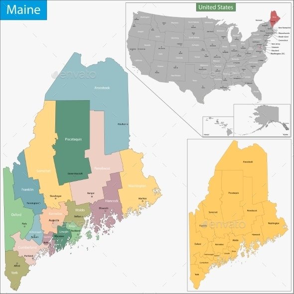 GraphicRiver Maine Map 11480993