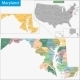 Maryland Map - GraphicRiver Item for Sale