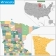Minnesota Map - GraphicRiver Item for Sale