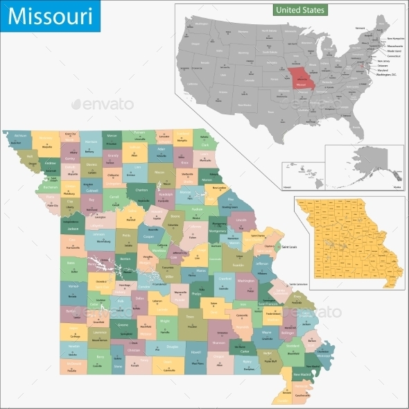 GraphicRiver Missouri Map 11481004