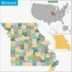 Missouri Map - GraphicRiver Item for Sale