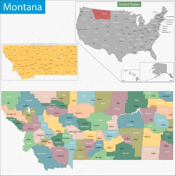 GraphicRiver Montana Map 11481008