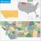 Montana Map - GraphicRiver Item for Sale