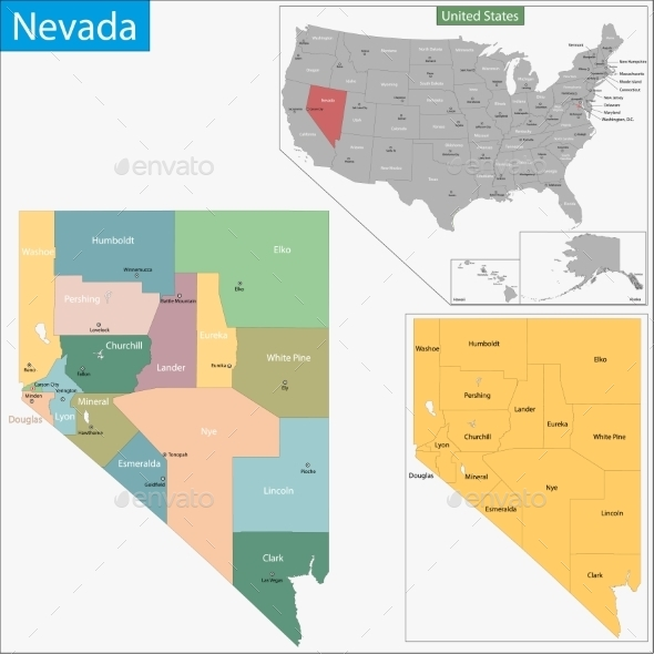 GraphicRiver Nevada Map 11481010