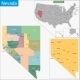 Nevada Map - GraphicRiver Item for Sale
