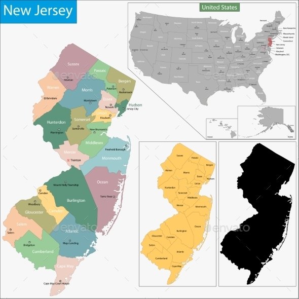 GraphicRiver New Jersey Map 11481015
