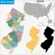 New Jersey Map - GraphicRiver Item for Sale